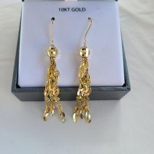 10Kt Yellow Gold Tassle Earrings